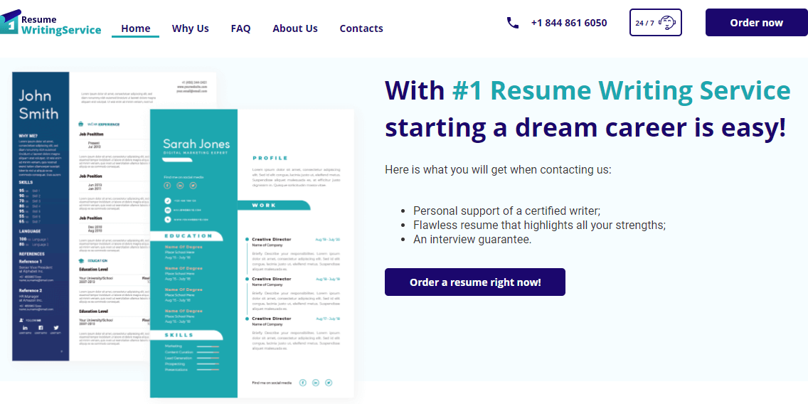1resumewritingservice.com Review by Resumereviewer.org