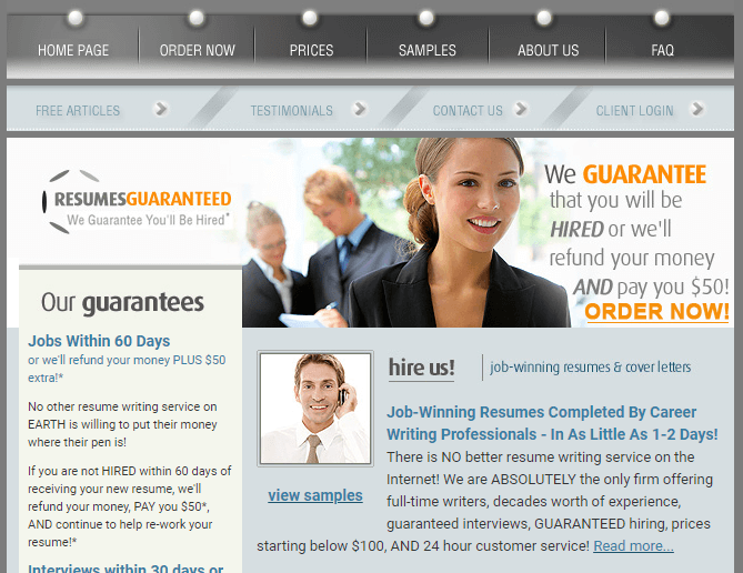 Resumesguaranteed.com  Review by Resumereviewer.org