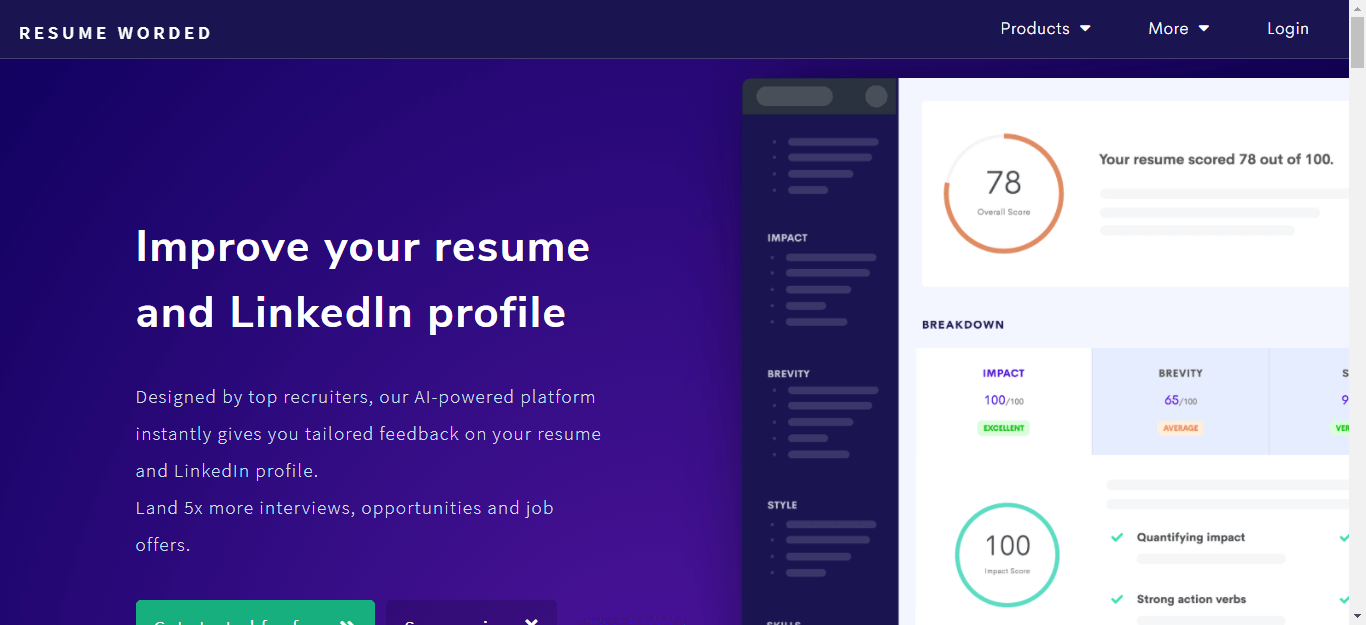 Resumeworded.com Review by Resumereviewer.org