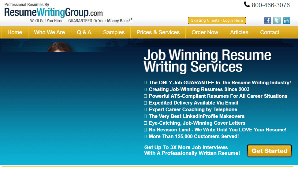 Resumewritinggroup.com Review by Resumereviewer.org